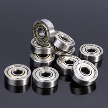 10 шт. углеродистая сталь 625ZZ шарикоподшипники 5X16X5 мм Однорядный глубокий радиальный пазовый шарикоподшипник Аппаратные аксессуары