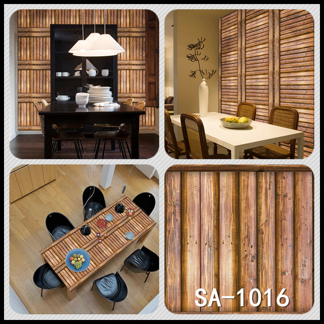 Home Decor 3D PVC Wood Grain Wall Stickers 8