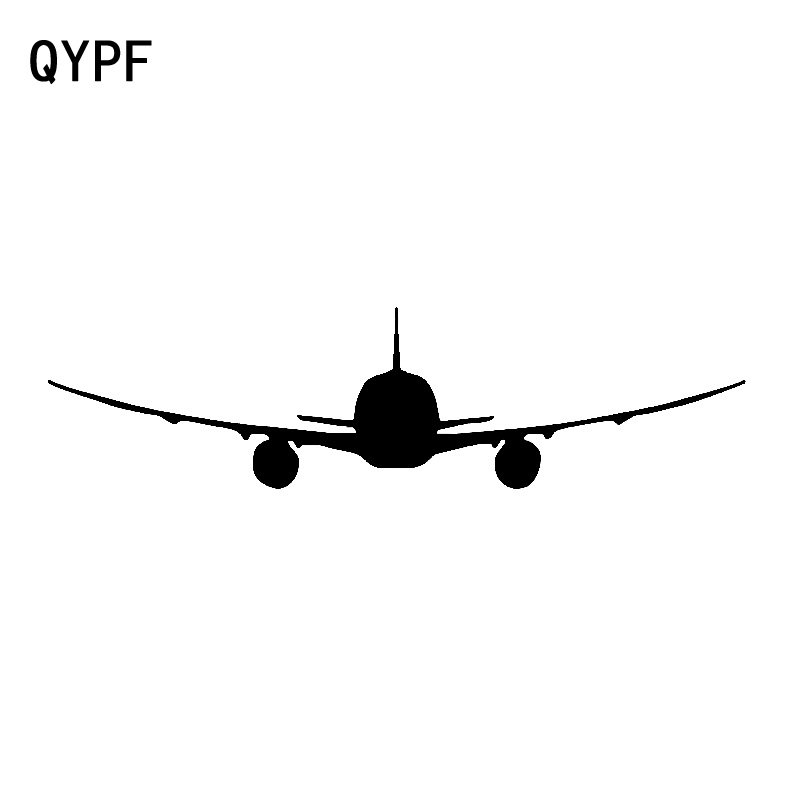 QYPF 17.2cm*4.5cm Plane Moves Smoothly Through The Clouds Vinyl Car Sticker Lifelikeness Decal Graphical C18-0670