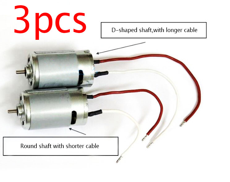 Free Shipping 3pcs <font><b>RS</b></font>-<font><b>550</b></font> <font><b>550</b></font> motor for RC Boat/Car model Electric drill with cable cooling fan 12V 15000rpm image