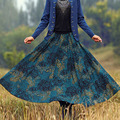 Custom Made Autumn And Winter High Waist Skirt Women Plus Size Fashion Thickening Expansion Bottom Print Skirts