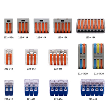 50-100Pcs/Lot Fast Connector Durable PCT 222-(412A-415A) 223-(313-315) 222-(412D-413D) Universal Compact Wire Wiring
