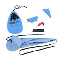 Patria Saxofón Cork Grease Herramienta de Limpieza Cepillo Paño Pulgar Rest Reed Case Kit De Limpieza Para Instrumentos de Viento