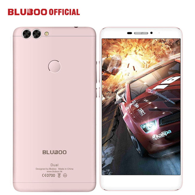 "BLUBOO Dual 5.5"" FHD 4G LTE Mobile Phone MTK6737T Quad Core 2G RAM 16G ROM 13MP Dual Back Camera Android 6.0 3000mAh Cell phone"