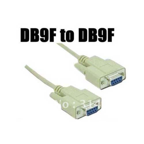 Free Shipping New Serial Null Modem Cable DB9F to DB9F RS232/RS-232 10pcs/lot