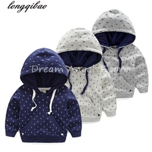 High-quality 2017 baby boys girls wear long sleeved sweater thickened hoodied sweater 2-14 Years free shipping