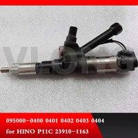 Genuíno e original brand new fule injector common rail 095000-0403 095000-0404 para HINO P11C 23910- 1163 9709500-040