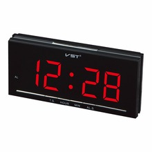 VST 1.8 inches LED time display digital alarm clock with EU plug Home decor electronic table alarm clock Student's gift clock