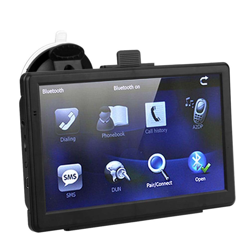 """7 """"HD Сенсорный экран Портативный автомобиля GPS навигации электронная книга FM воспроизведения видео Автомобильный навигатор с Bluetooth Европа Географические карты телефон подключен GPS"""
