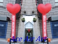 Specifical Customized Inflatable  Red Heart  Air Dancer for Wedding Valentines Decorations