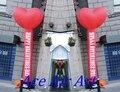 Specifical Personalizado Coração Vermelho Inflável Dançarino Do Ar para Decorações de Casamento Dos Namorados
