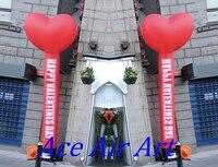 Specifical Tùy Inflatable Trái Tim Màu Đỏ Vũ Khí cho Wedding Valentines Trang Trí