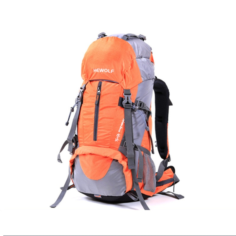 Hewolf сумка для скалолазания Hewolf на открытом воздухе 45л + 5л походный рюкзак, рюкзак для активного отдыха, спорта, походов, кемпинга, рыбалки, путешествий, дождевик - 6