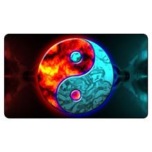 (Yin Yang Red and Blue) Custom Playmat Board Games Geek Game Pad Five Centimeters Per Second Table Pad Playmat Sleeves 35X60CM