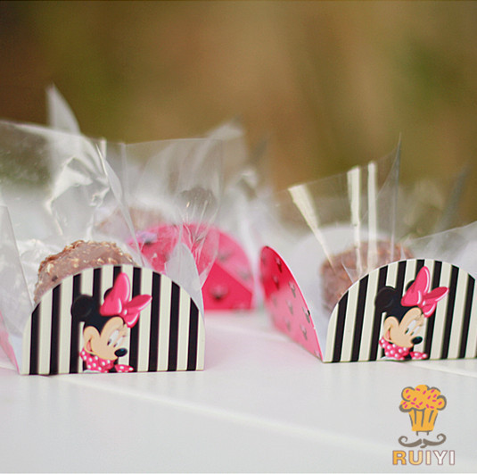 50pcs Minnie Mouse Cupcake Wrappers Decoration Kids