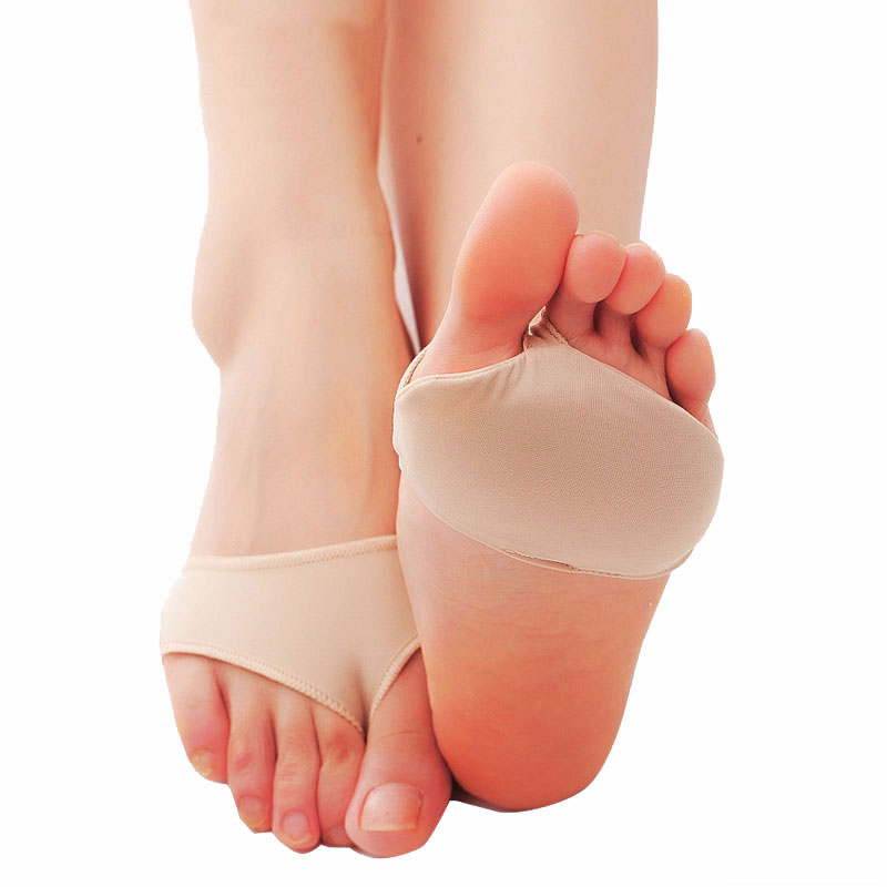 1Pair Soft Half Yard Flatfoot Fabric Insole Forefoot Pain Relief Massaging Toe Support Pads Insoles Forefoot Foot Care Tool