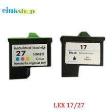 2pcs for Lexmark 17 27 Ink Cartridge Z615 Z605 Z33 i3 X1100 X1200 X1150 X1270 X2250 X75 Z13 Z23 Z34 Z515 Z517