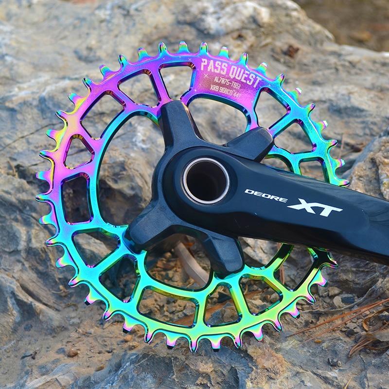 MTB Mountain Bike Chain Wheel 96 BCD 32/34/36/38/40/42/44/48 Teeth Chainring Titanizing For shimano XTL M9000 XT M8000 SLX M7000-in Bicycle Crank & Chainwheel from Sports & Entertainment    2