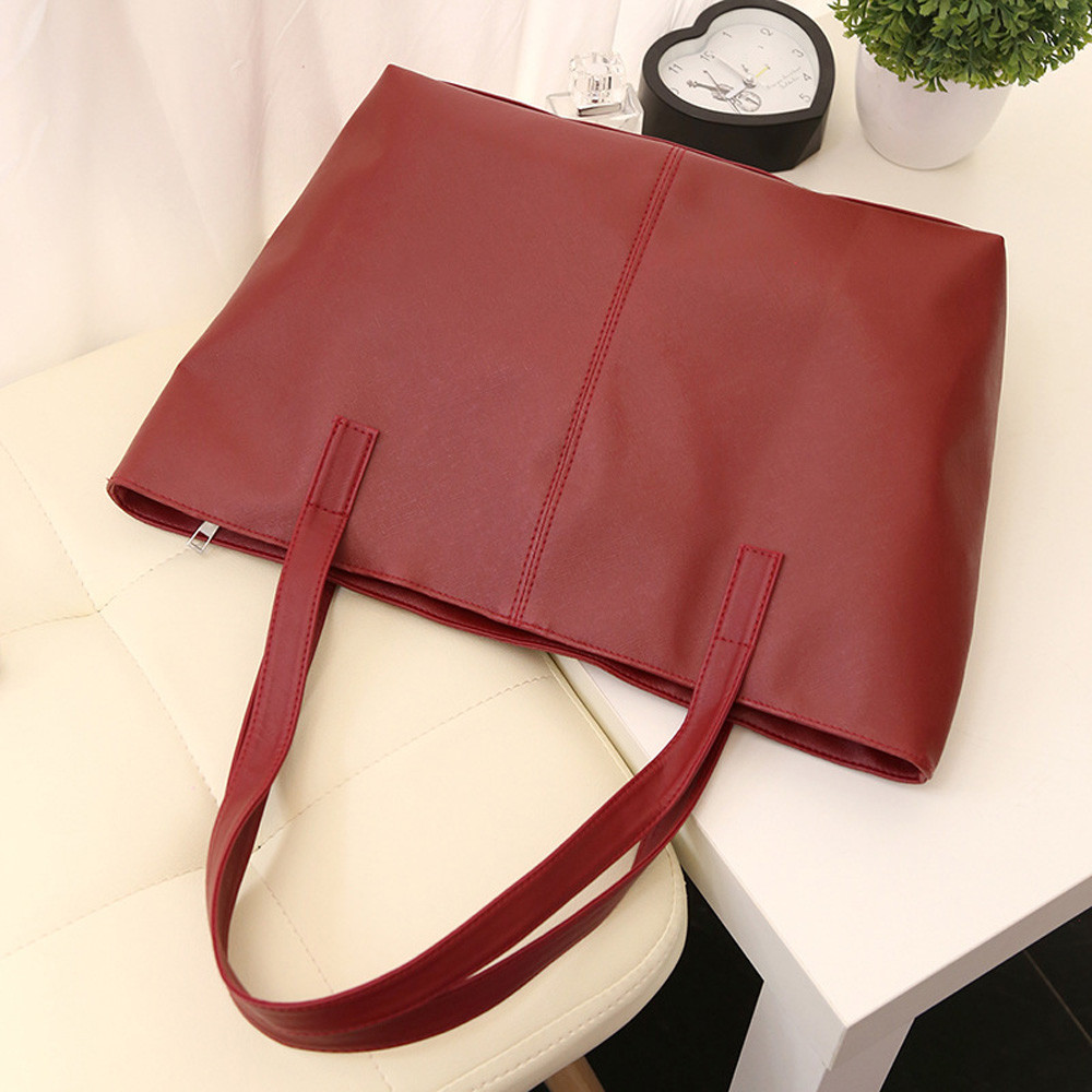 Женская кожаная сумка, роскошная Брендовая женская черная сумка, мягкая большая сумка-мессенджер на плечо, простая сумка для покупок, женская сумка#5