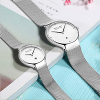 Fashion Simple Brand Lovers Watches Imported Quartz Milanese Bracelet Watch Business Couples Calendar Wrist watch Analog Relojes