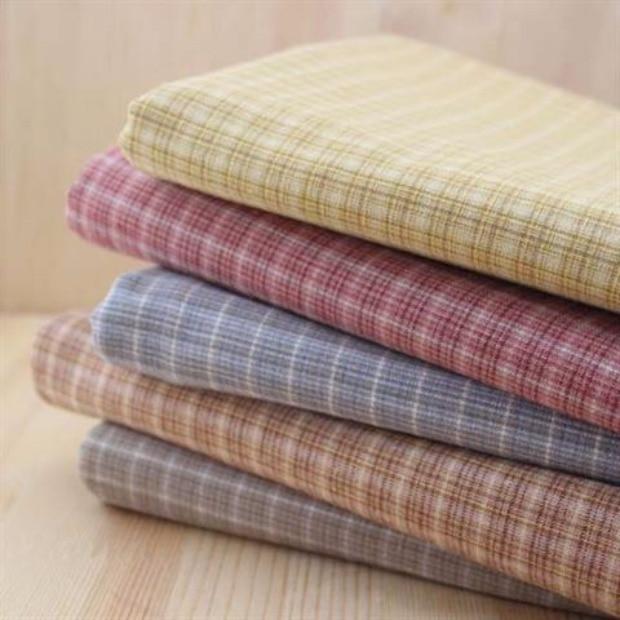 50x70 cm fil teinture tissu petit ripstop 100 coton tissu pour patchwork couette motif tissus coudre tissu tilda quilt - Colorant Tissu