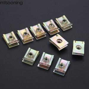 Image 5 - Mtsooning 10 sztuk 6mm M6 bieżnik Panel Spire nakrętka Fairing klip mocujący prędkość zacisk montażowy cynku dla VW