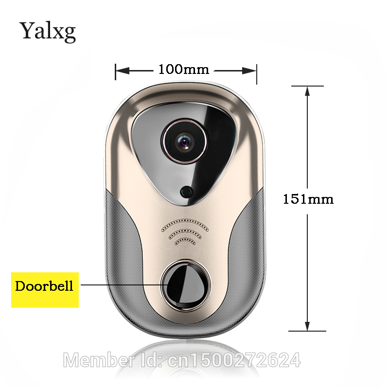 HD Home Security Wide View Wi-fi Smart Visual Video Intercom DoorBell Camera Support SD Card and 433 Series Wireless Alarm HD Home Security Wide View Wi-fi Smart Visual Video Intercom DoorBell Camera Support SD Card and 433 Series Wireless Alarm