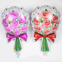 TSZWJ U-014 Free Shipping Hot. New roses balloon birthday party. Toys cartoon. Wedding marry foil balloons wholesale