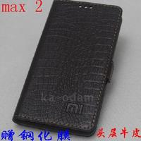 For Xiaomi Mi Max 2 Case Luxury Genuine Leather Flip Stand Leather Cover Capa For