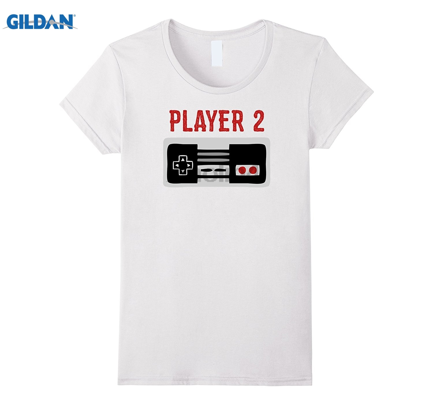 GILDAN Matching Family Shirt Player 2 Video Game Shirt Mens cartoon fun T-shirt sunglasses women T-shirt ...