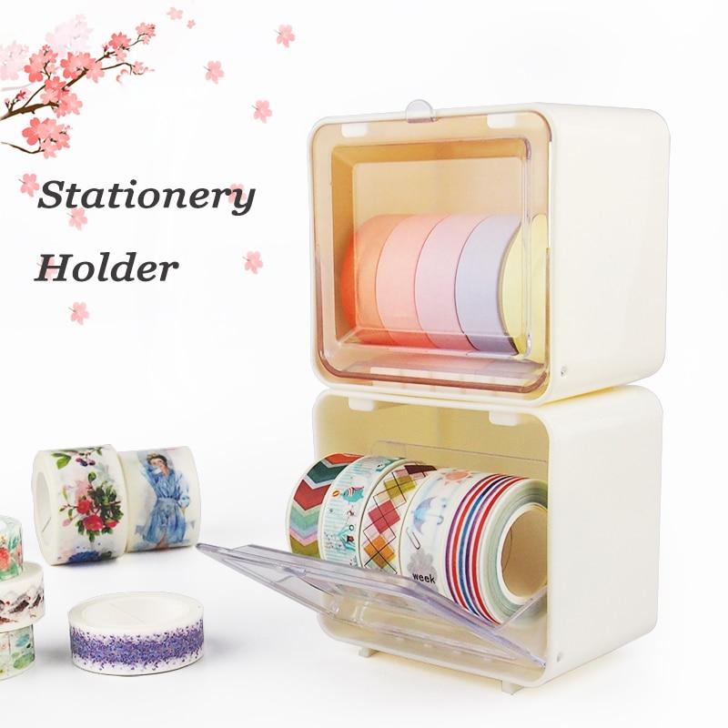 TMP-J Japanese Stationery Holder Masking Tape Washi Tape Storage Organizer Box DIY Tools Desktop Holder School Office Supplies