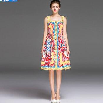 540280ae2 Vestido de una pieza con estampado de moda recién llegado primavera y verano  2016 para mujer