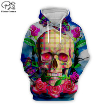 Funny Hip Pop Halloween day of dead Skull head print Mens 3d Hoodies Unisex Sweatshirts Autumn harajuku colorful Cool Streetwear