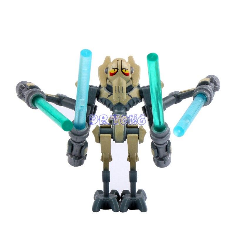 DR.TONG PG8011 General Grievous With Lightsaber Gun Mini Dolls Building Block Children Gift Toys