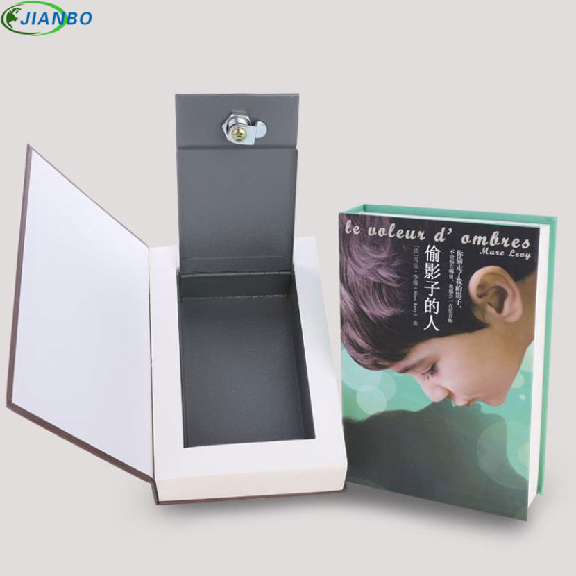 Купить с кэшбэком Security Simulation Dictionary Book Case Home Cash Money Jewelry Locker Hidden Safe Box Key Lock Box For Kid Gift 22*15.5*4.5CM