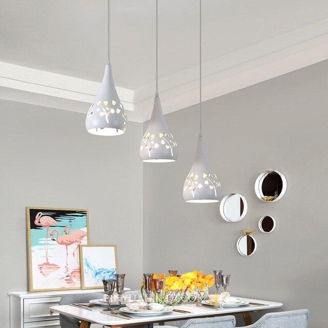 Candelabro de restaurante tres cabezas moderno minimalista Estilo nórdico  personalidad creativa barra lámpara mesa comedor lámparas para el hogar