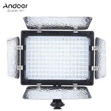 Andoer W160 panneau de lampe de photographie vidéo 6000K 160 led pour Canon Nikon Olympus Fujifilm DSLR appareil photo DV caméscope