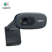 Logitech C270 HD Vid 720P Webcam Built in Micphone USB2.0 Mini Computer Camera for PC Laptop Video Calling Support Official Test