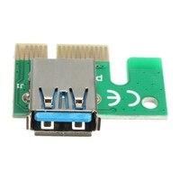 USB 3 0 PCI E Express 1x To16x Extender Riser Board Karte Adapter SATA Mit Kable