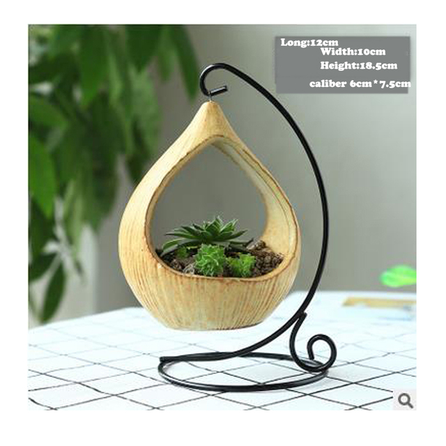 Iron frame Flower Pot