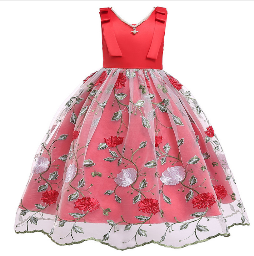 Kids Party Dress 2019 New Girl Wedding Dresses Fashion High-grade K Wedding Dress Sweet Children Pageant Dresses