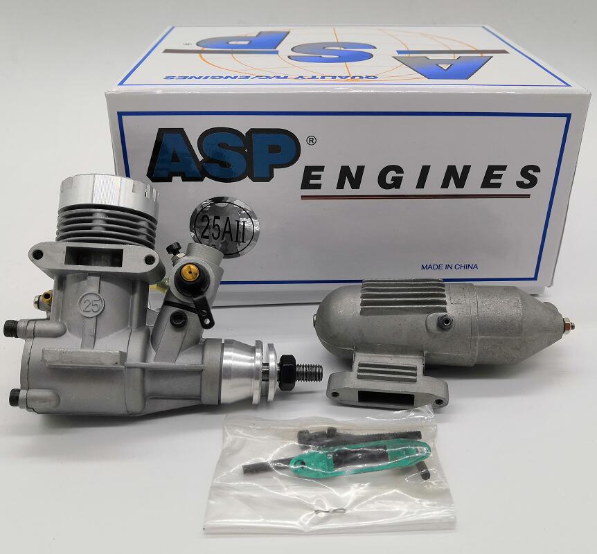 ASP 2 Stroke S25A cS25AII 4CC Nitro Engine for RC Airplane