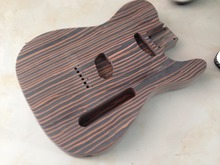 Free shipping  zebra wood TL guitar body one piece no painting