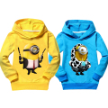 Promotion children clothing minions girls clothes outerwear cotton nova boys sweatshirts kids hoodies spring summer tops tees