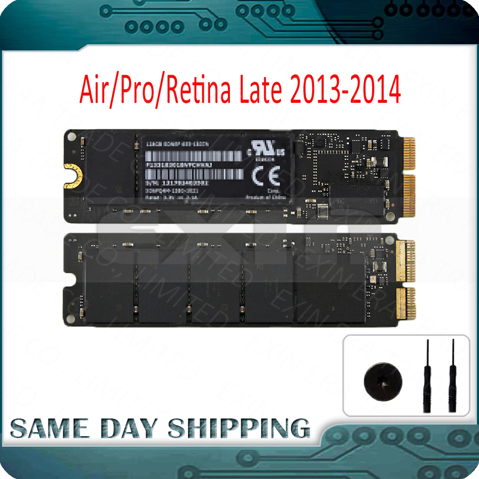 Genuine 2013 2014 Year for Apple Macbook Pro Retina A1502 A1398 Air A1466 A1465 SSD Solid State Drive 128GB 256GB 512GB 1TB SSD-in Computer Cables & Connectors from Computer & Office