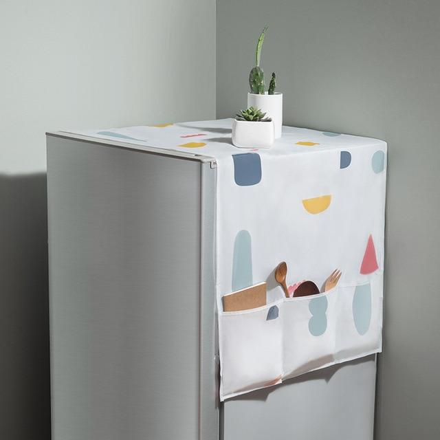 Фото геометрический пылезащитный чехол для холодильника водонепроницаемый цена