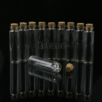 Y142 Free Shipping Hot Sale 30pcs 20mL Mini Small Tiny Clear Cork Stopper Glass Bottles Vials