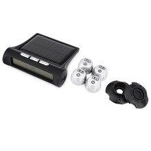 TPMS Sistema de Monitoreo de Presión de Neumáticos de Coches TP880 LCD Display 4 Sensores Externos de Alarma de Auto Herramienta de Diagnóstico del Sistema de Energía Solar