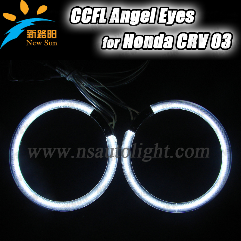 105mm full circle CCFL angel eyes ring for Honda CRV 03 12V DC halogen light headlight replacement kit angel eyes bulb ccfl other voices full circle cd
