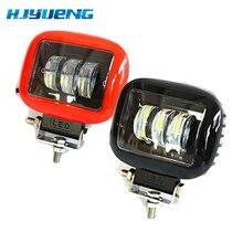 2 uds., lámpara LED de trabajo de 30W 12V 24V, foco Led para coche, para Lada Niva Toyota, motocicleta Tractor, funcionamiento automático, barra de luz LED